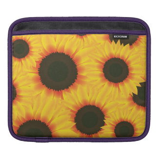 Spring colorful pattern sunflower iPad sleeve