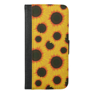 Spring colorful pattern sunflower iPhone 6/6s plus wallet case