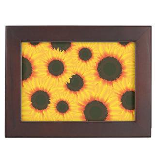 Spring colorful pattern sunflower keepsake box