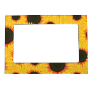 Spring colorful pattern sunflower magnetic frame