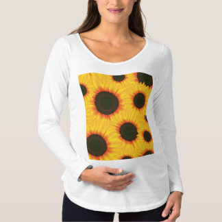 Spring colorful pattern sunflower maternity T-Shirt