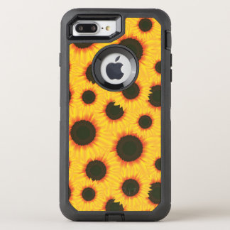 Spring colorful pattern sunflower OtterBox defender iPhone 8 plus/7 plus case
