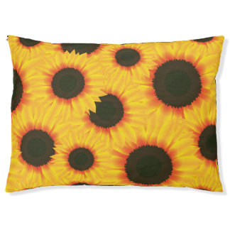 Spring colorful pattern sunflower pet bed