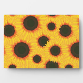 Spring colorful pattern sunflower plaque