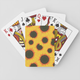 Spring colorful pattern sunflower playing cards