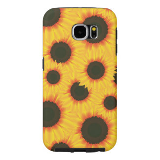 Spring colorful pattern sunflower samsung galaxy s6 cases