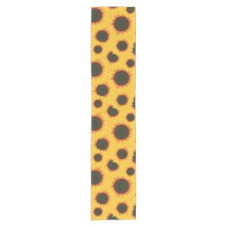 Spring colorful pattern sunflower short table runner