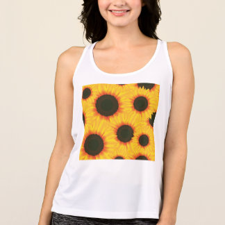 Spring colorful pattern sunflower singlet