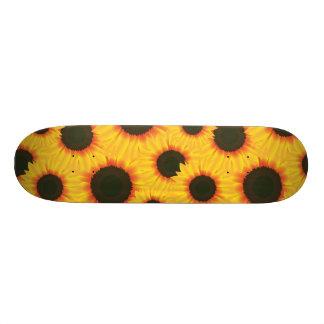 Spring colorful pattern sunflower skate boards