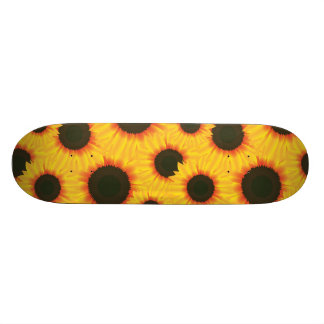 Spring colorful pattern sunflower skate boards