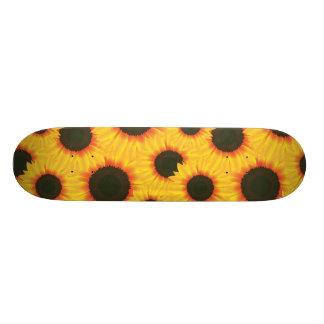 Spring colorful pattern sunflower skateboard deck