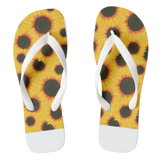 Spring colorful pattern sunflower thongs