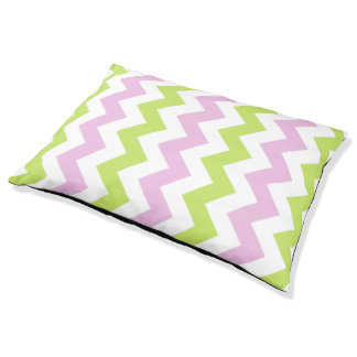 Spring Colors Chevron Pattern Dog Bed