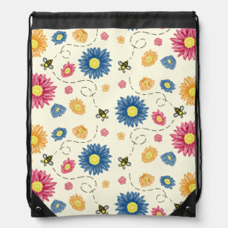 Spring Colors Drawstring Bag