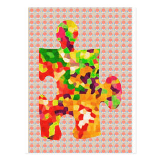 SPRING COLORS: Puzzle Quiz Game ART lowprice GIFTS Postcard