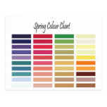 Spring Colour Chart Postcard