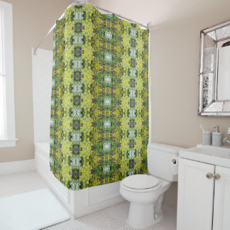 Spring Cottage Garden Ground Covers, Geometric Shower Curtain