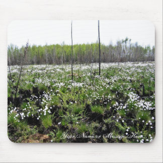 Spring Cotton grass on Grid 37394 Mousepads