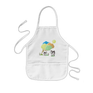 Spring Cow and Calf Kids Apron