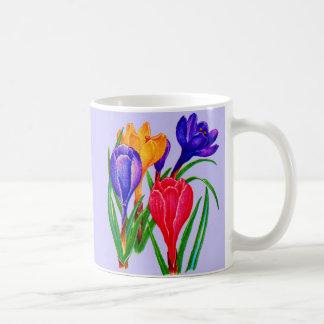 spring crocus flowers coffee mug