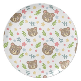 Spring Cute Bear Party Plate