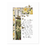 Spring Daffodils & Butterflies Vintage Easter