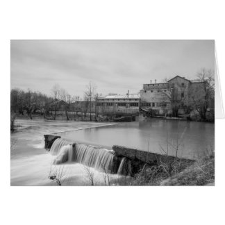 Spring Day At Ozark Mill Grayscale Card