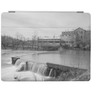 Spring Day At Ozark Mill Grayscale iPad Cover