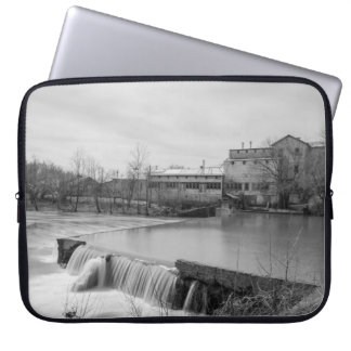 Spring Day At Ozark Mill Grayscale Laptop Sleeve