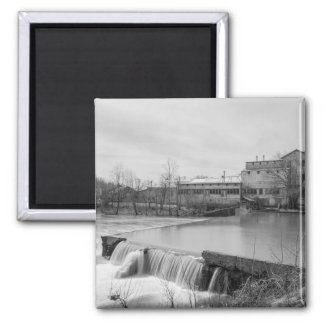 Spring Day At Ozark Mill Grayscale Magnet