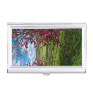 Spring Day In Rivercut Business Card Holder