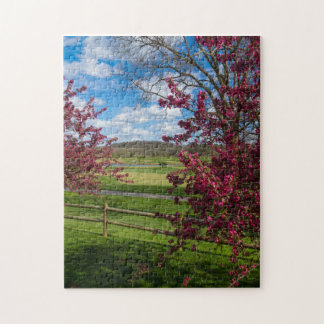 Spring Day In Rivercut Jigsaw Puzzle