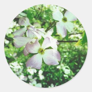Spring Dogwood Round Sticker