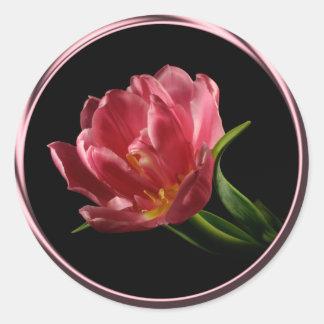 Spring Double Bloom Tulip Envelope Seal Sticker