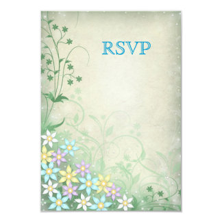 Spring Dream Floral RSVP Wedding Reply Cards 9 Cm X 13 Cm Invitation Card