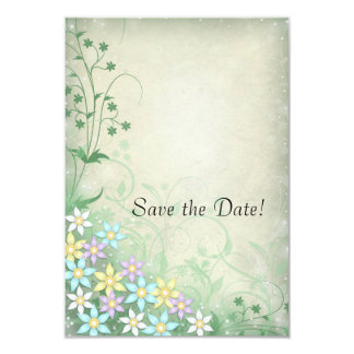Spring Dream Floral Wedding Save the Date Cards 9 Cm X 13 Cm Invitation Card