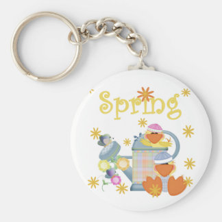 Spring Duckies T-shirts and Gifts Basic Round Button Key Ring