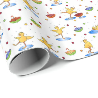 Spring Ducks Wrapping Paper