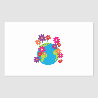 Spring Earth Rectangle Sticker
