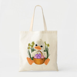 Spring Easter Ducky with Egg Basket