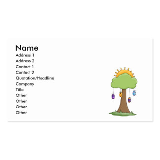 spring easter egg tree business card templates