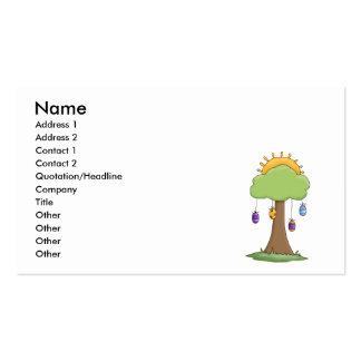 spring easter egg tree pack of standard business cards