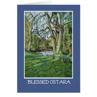 Spring Equinox Card - Riverbank in Early Spring