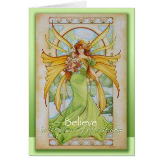 Spring Faery Greeting Card by Teri Rosario