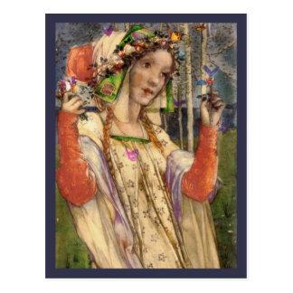 Spring Fairy Land Postcard