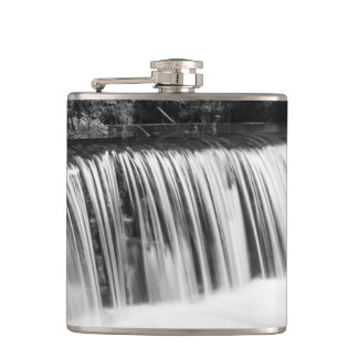 Spring Falls At Hodgson Grayscale Hip Flask