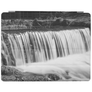 Spring Falls At Hodgson Grayscale iPad Cover