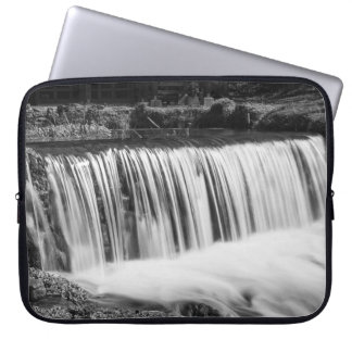 Spring Falls At Hodgson Grayscale Laptop Sleeve