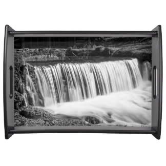 Spring Falls At Hodgson Grayscale Serving Tray