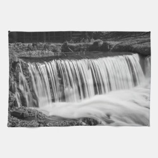 Spring Falls At Hodgson Grayscale Tea Towel